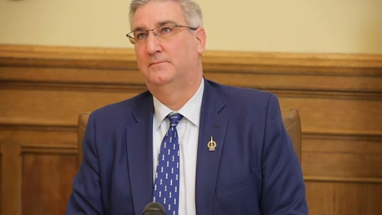 Indiana Gov. Eric Holcomb.