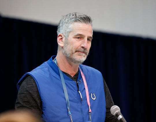 Indianapolis Colts coach Frank Reich speaks to the media during the 2019 NFL Combine.