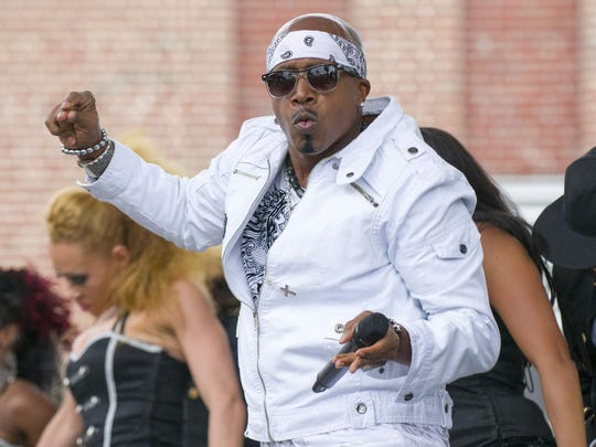 MC Hammer, seen during a 2012 performance at the Indiana State Fair, will top a hip-hop nostalgia bill July 27 at Ruoff Home Mortgage Music Center.