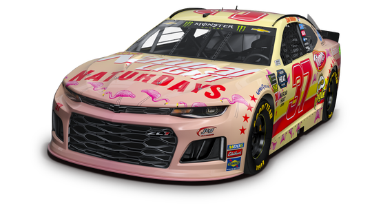 Anheuser-Busch is decking out the JTG Daugherty racing team's No. 37 car in a Naturdays paint scheme in time for the Pennzoil 400 NASCAR race in Las Vegas on March 3, 2019.