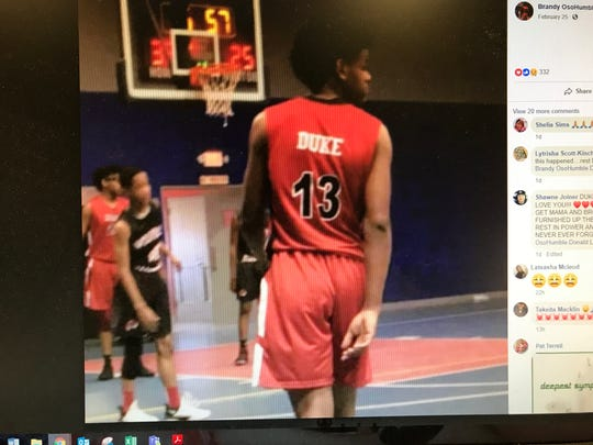 """This Facebook post shows a photo of De'Anthony """"Duke"""" Bunch, 15, who died in a car wreck on Saturday, Feb. 23, 2019."""