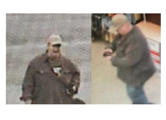 Robbery suspect at the Pilot gas station on Strawberry Plains Pike in Knoxville.