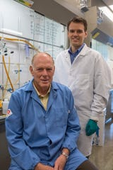 Novosteo Inc. father and son co-founders Philip Low and Stewart Low are developing and commercializing a targeted drug combination that, when injected, is shown to expedite bone fracture healing.