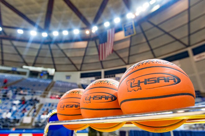 LHSAA State Basketball Tournament in Lake Charles, LA. Tuesday, March 6, 2018.