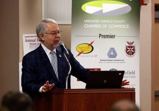 Lancaster Mayor David Scheffler speaks during the State of the City address Wednesday morning, Feb. 27, 2019, at the Olivedale Senior Center in Lancaster.