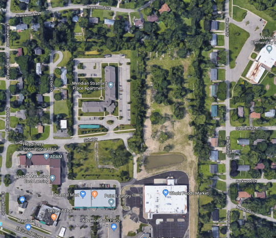 An Ohio-based developer wants to build 53 two-story townhomes in a 4.6 acre area behind Whole Foods.