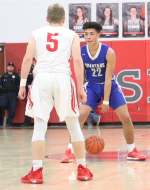 St. Peter's Shawn Perkins-Harris is the leading returning scorer for the Spartans in 2019-20.
