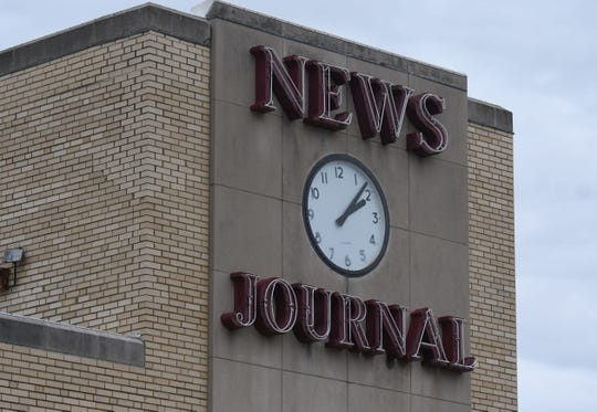 News Journal clock.