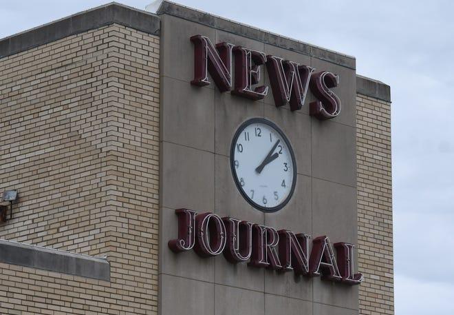 News Journal clock.