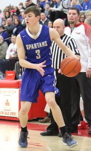St. Peter's Caleb Stewart will represent the Spartans in the 2019 Mansfield News Journal All-Star Classic at 7:30 p.m. on Friday night at Lexington High School.