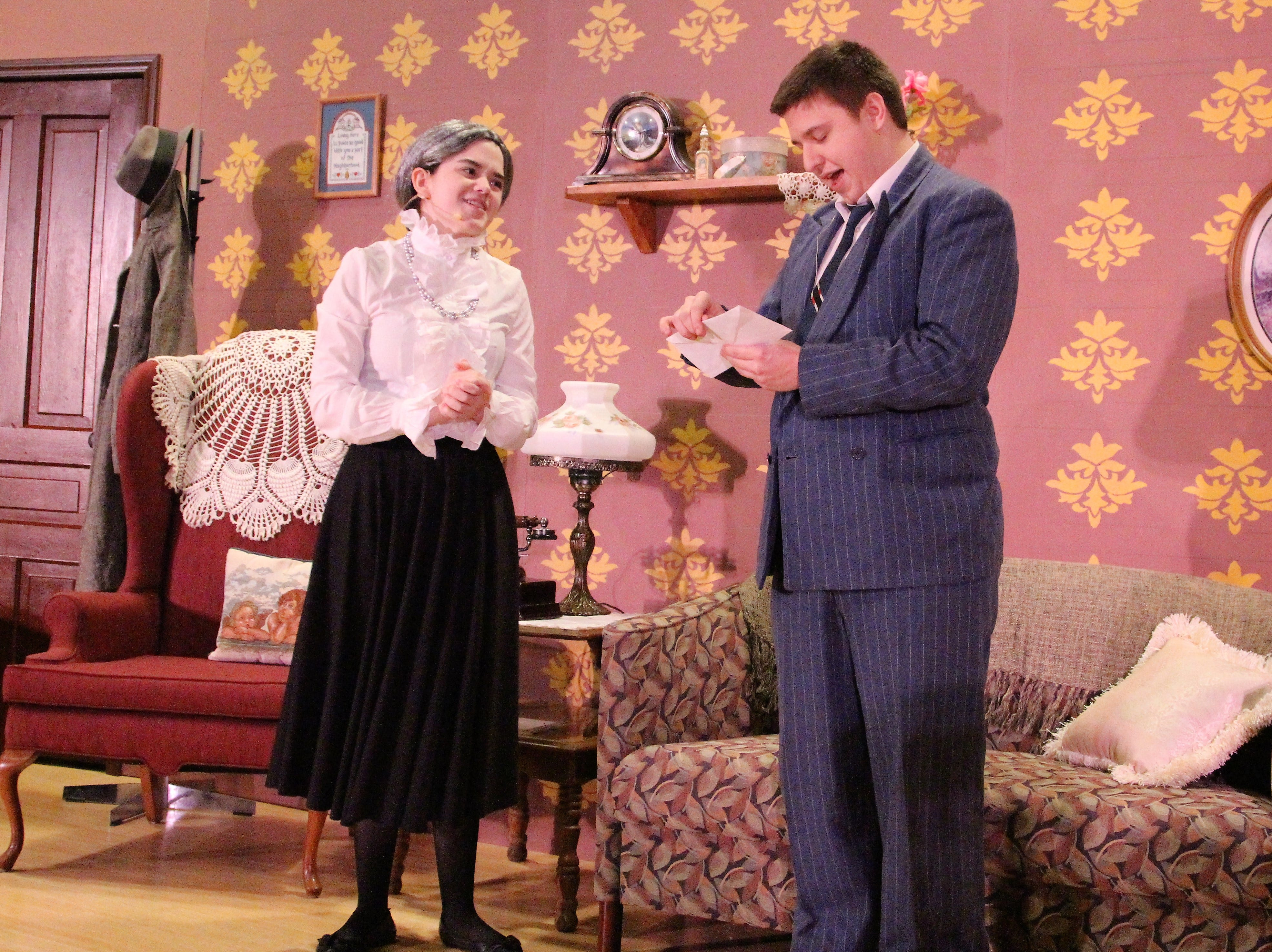 Mortimer Brewster, played by Darren Sites, talks to his old aunt Abbey, played by Hailee Baer. The play follows the Brewster family of Brooklyn, New York and their murderous exploits. Directed by OSU alumna Hannah Fuller, the production will be open to the public Thursday and Friday at 7:30 p.m. in the Morrill Hall Auditorium.