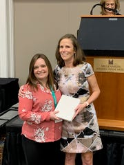 Lisa Abbay (on the right) was recognized by the the Tennessee Academy of Nutrition and Dietetics as Outstanding Dietitian of the Year. She is pictured with co-worker Chrystal Dickson.