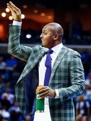 Memphis head coach Penny Hardaway during action against Temple at the FedExForum, Tuesday, February 26, 2019.