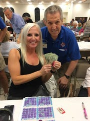 On Thursday, Feb. 21, the Knights of Columbus San Marco Council #6344 hosted a Bingo night in the San Marco Parish Center. The big jackpot winner was Meghan Turnbull of Brooklyn.