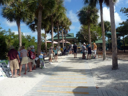 : Learning stations along the boardwalk presented information about Tigertail