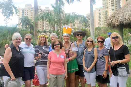 Always having fun are Linda Keyes, Pat Walsh, Betsy Wohltman, Dottie Daniels, Diane Perino, Susie Walsh, Sue Jones and Pat Ardiciacono.
