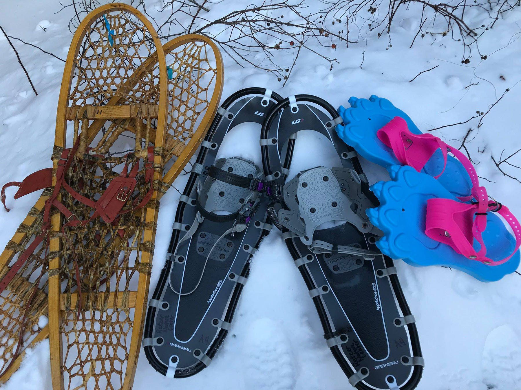 Retzer Nature Center has a variety of traditional Native American-style snowshoes, and modern types, said Janet Barthel, supervisor of Retzer Nature Center in Waukesha.