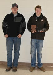 Calico Rock High School welding students Ryan McCoy (left) and Lane Jason recently competed in the2019 Arkansas Elite Welding Academy Competition at Bee Branch.Jason placed thirdin the event and earned a $4,250 scholarship, while McCoy competed and earned a $500 scholarship. Calico Rock Public Schools is proud to offer several vocational opportunities, including certifications from the American Welding Society in MIG, TIGand Stick welding. We are excited for what the future holds for these young men! The Calico Rock FFAwould like to thank you the public for theirsupport. Fundraising through thealumni group helped purchase additional welders and equipment.