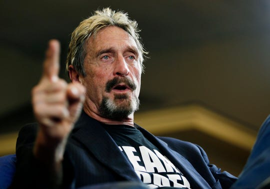 """The city also had attracted John McAfee, who founded the corporate predecessor of computer security giant McAfee Inc. He noticed Sandler driving the Jaguar and the two struck up a relationship. """"He was displaying ostentatious wealth. It didn't seem like you needed to delve too deeply into it,"""" McAfee said in a phone interview."""