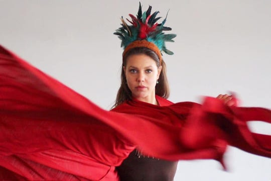 "Curran Tellalian, Alabama River Region Ballet's associate artistic director, dances one of the principal roles in ""Creek Indian Odyssey."""