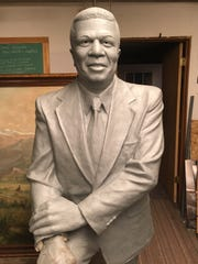 The clay form of the statue of Muncie community leader Hurley Goodall is set to be completed by artist Bill Wolfe this week and transported to Sincerus foundry in Indianapolis, where it will be cast into bronze.