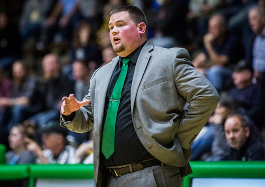 Yorktown coach Eric Branz, shown here during the team's loss against Delta in the first round of sectional, was 12-33 in two seasons at the helm.