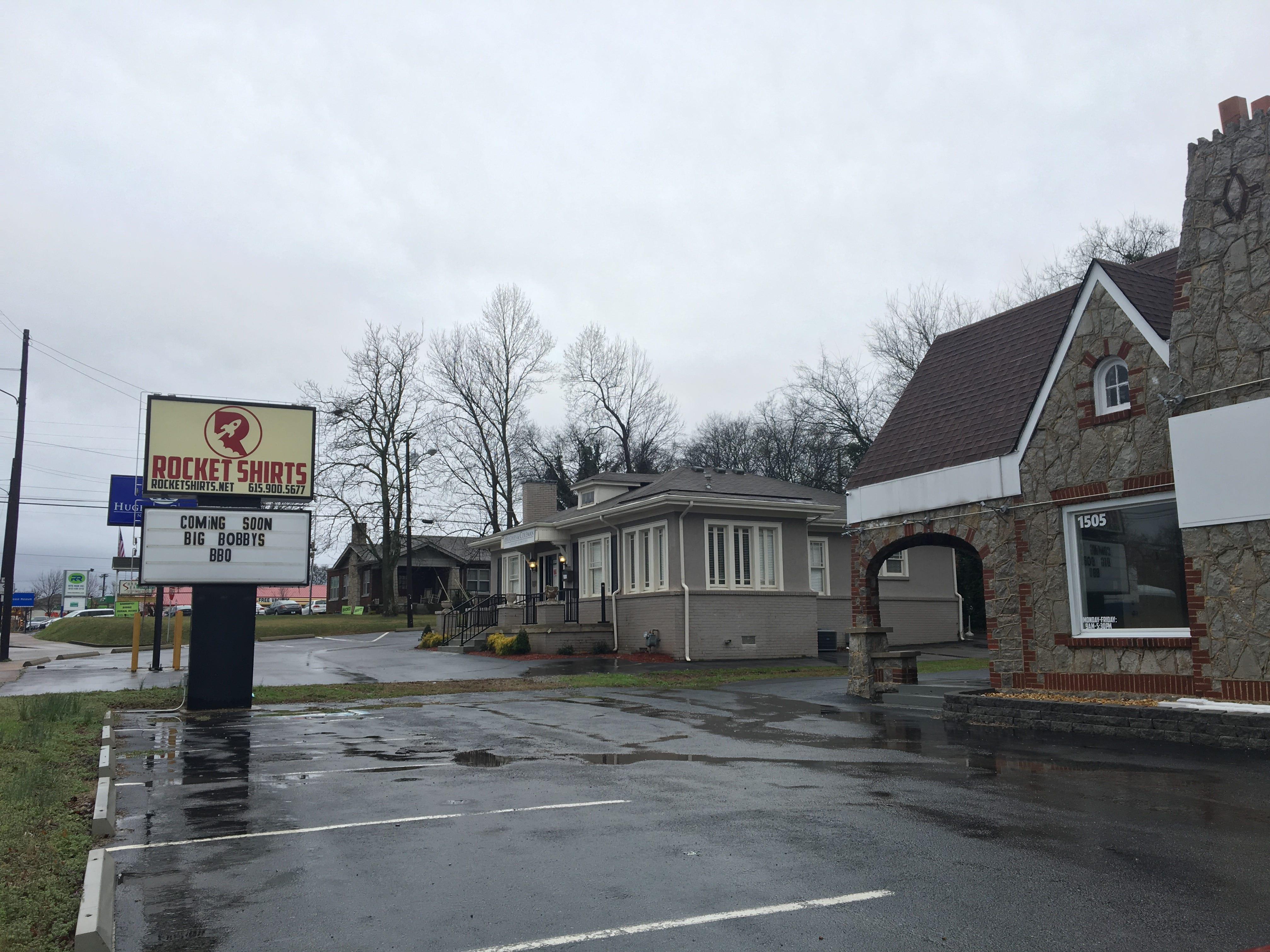 Big Bobby's BBQ will open in the spring at 1505 Memorial Blvd. in Murfreesboro.