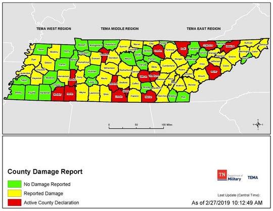 TEMA county damage report