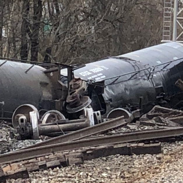 Berry Hill train derailment: Vegetable oil spill contained, economic impact, repair timeline unclear