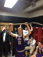 CPA's Dean Cooper was honored with the shovel after a game earlier this season. The shovel goes to the team's grittiest player in each game.