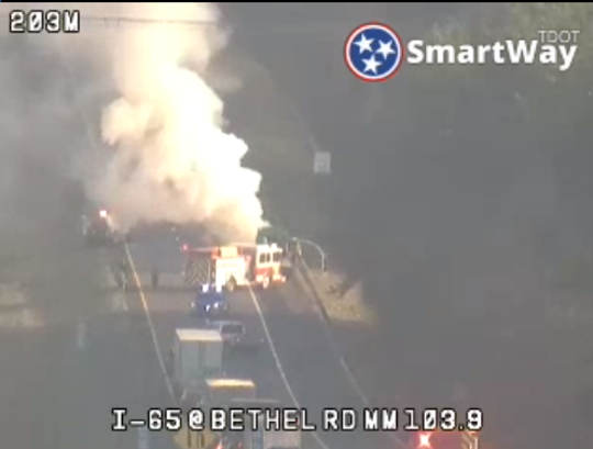 Cargo fire on I-65