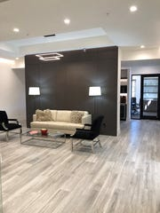 Lobby of Diamond Custom Homes' new office space - located at 9130 Galleria Court, Unit 204.