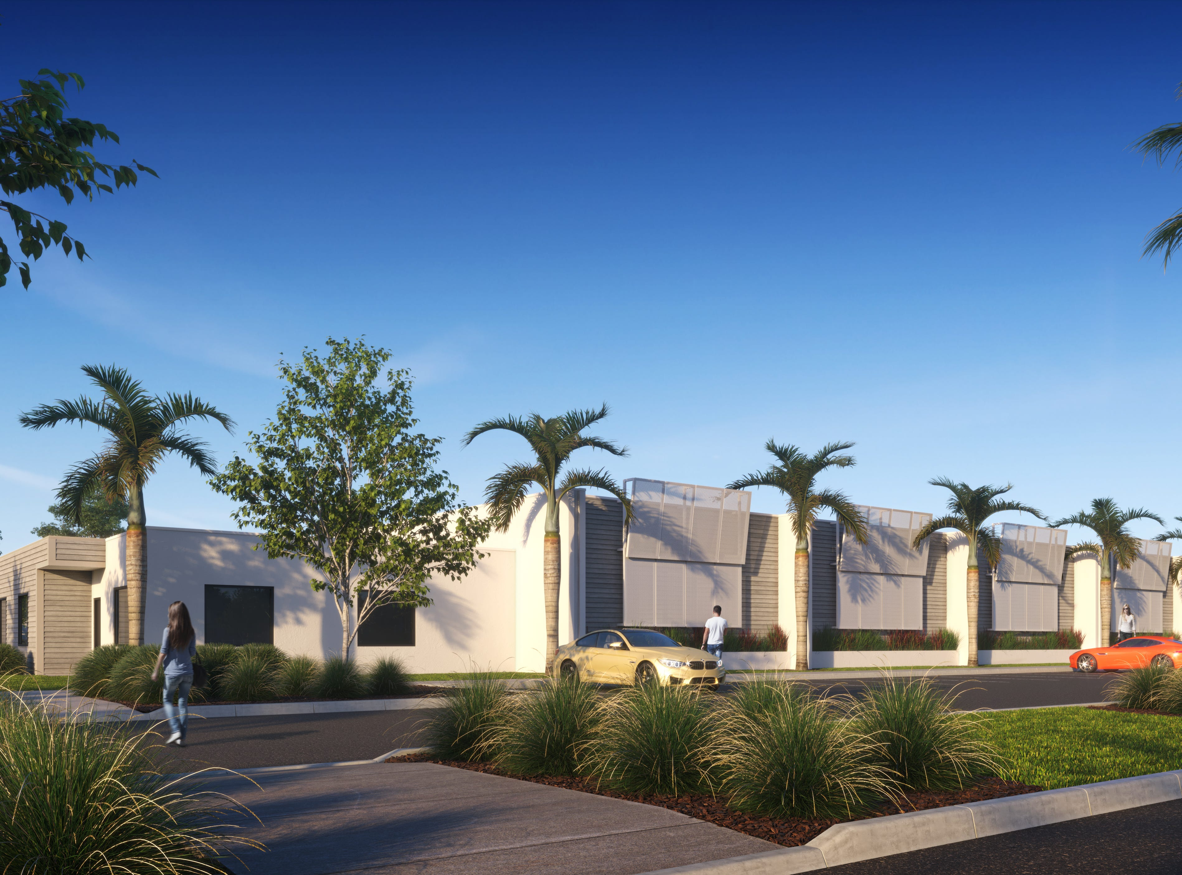 Conceptual view from the parking lot of the submitted restaurant and poker room building from Naples-Fort Myers Greyhound Track.