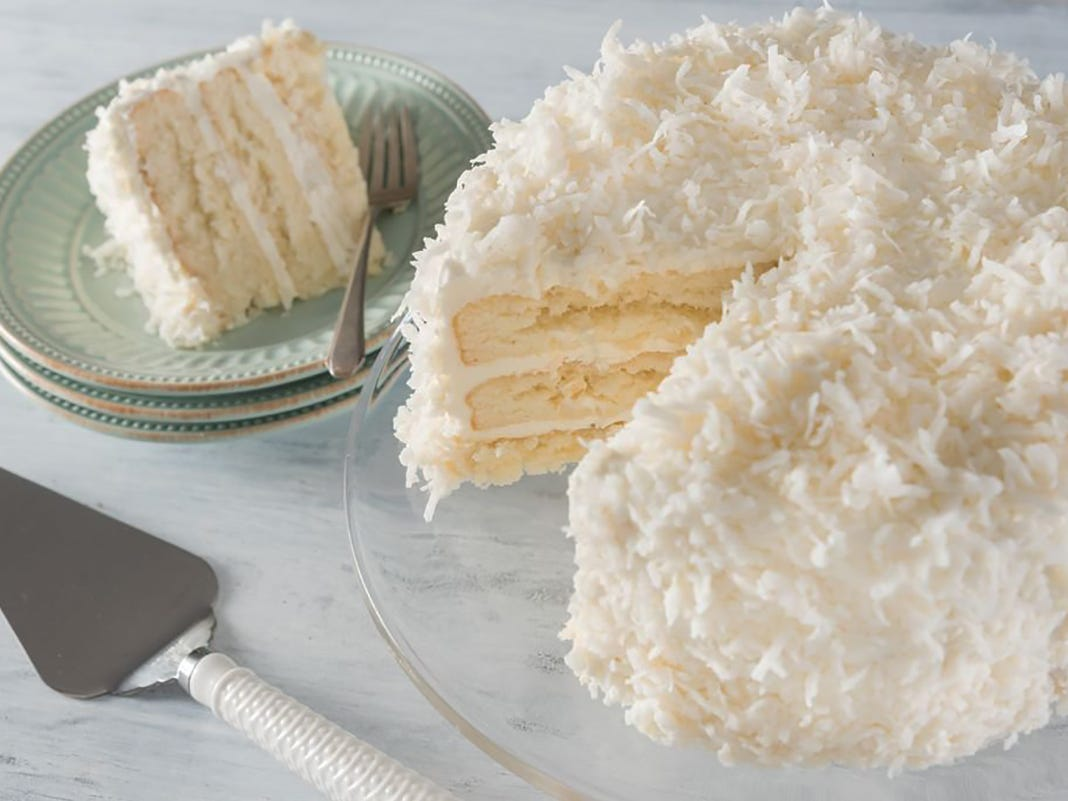 Coconut cake at TooJay's Deli.