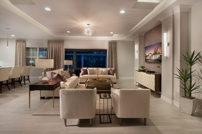 Vogue Interiors has completed the interior design for the Easton model at Fiddler's Creek.