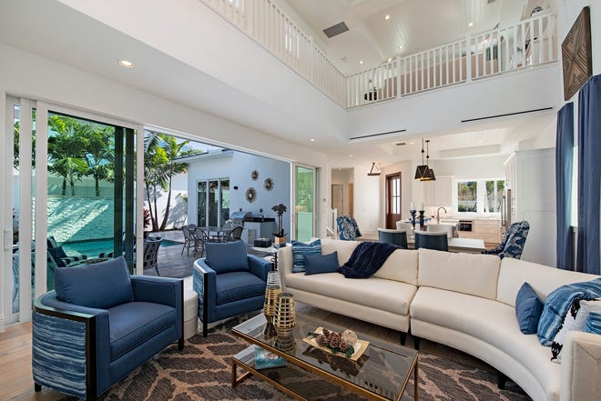 Interiors for Le Jardin II at Residences at Mercato was completed by Clive Daniel.