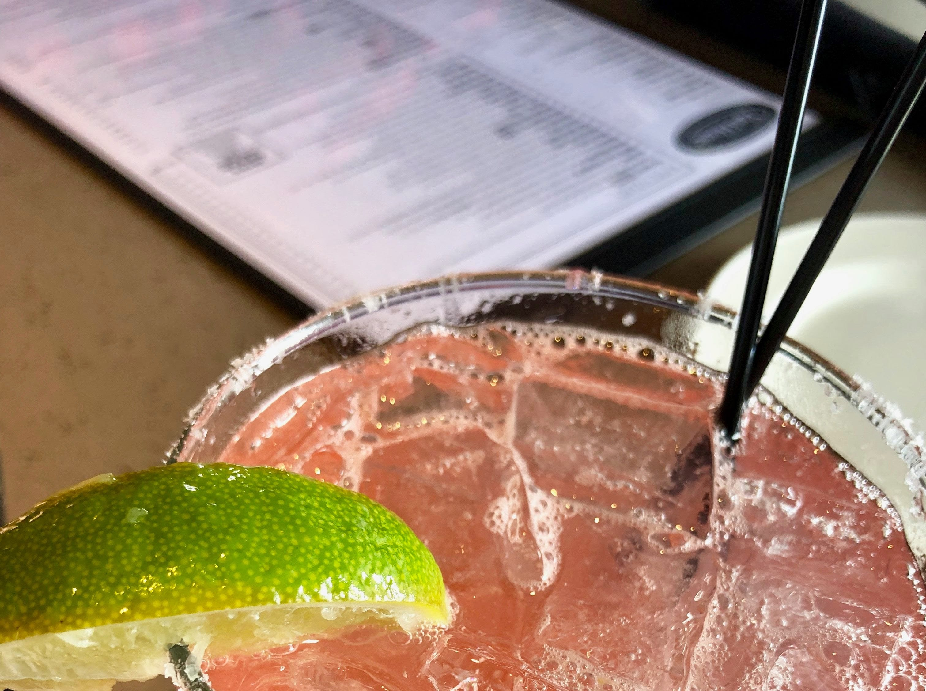 Besides an extensive beer list, Yard House also offers a menu of thoughtful craft cocktails, like this salted watermelon margarita.