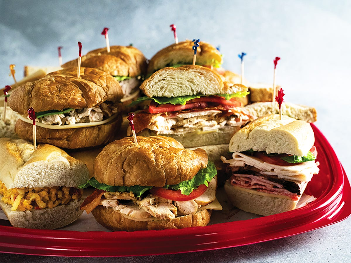 A variety of sandwiches from Newk's Eatery are available for catering.