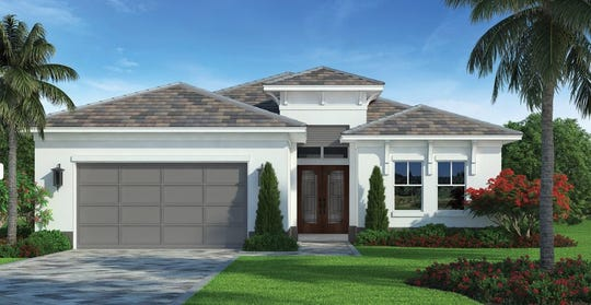 An artist's conception of the Sand Pointe, one of nine new homes planned by FL Star in Golden Gate Estates.