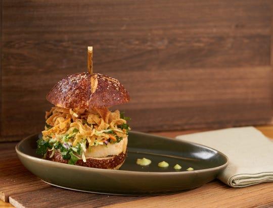 Crabby's shrimp burger