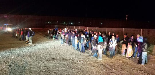 U.S. Border Patrol agents working at Sunland Park, NM apprehended approximately 180 illegal border crossers on Tuesday, Feb. 26.