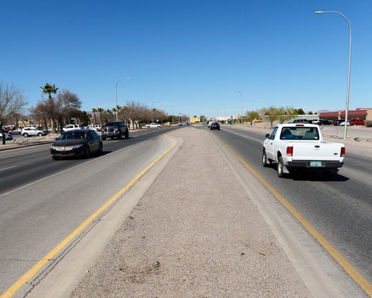Las Cruces City Councilor Jack Eakman is proposing that medians on Motel Boulevard like this one be turned into monuments to important figures in the city's history and that the street be renamed Legends Boulevard, an alternative to a local group's proposal to rename the street for Old West lawman Pat Garrett.