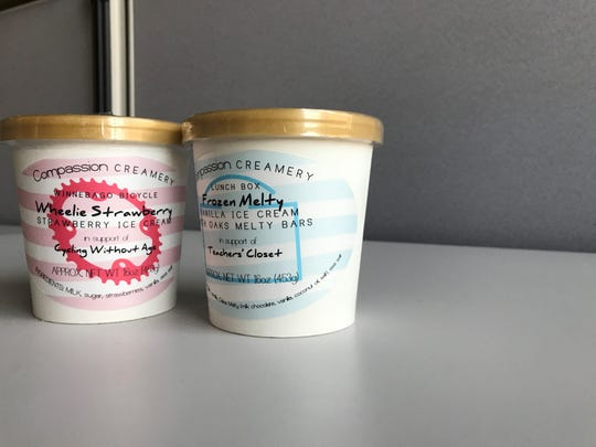 Compassion Creamery is exclusively sold at Wegner's Market, 502 N. Main St. Each pint sold donates $1 to a different charity.