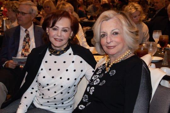 Cydney Osterman with table sponsor Helene Galen.