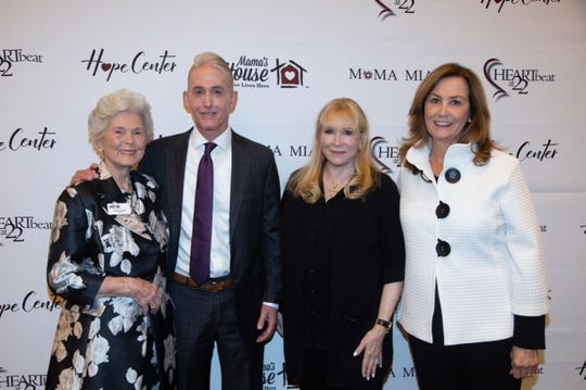 Founding Angel Sponsors with US Representative Gowdy are (from left) Barbara Waddell, Anne Silverstein and Pat McDonnell.