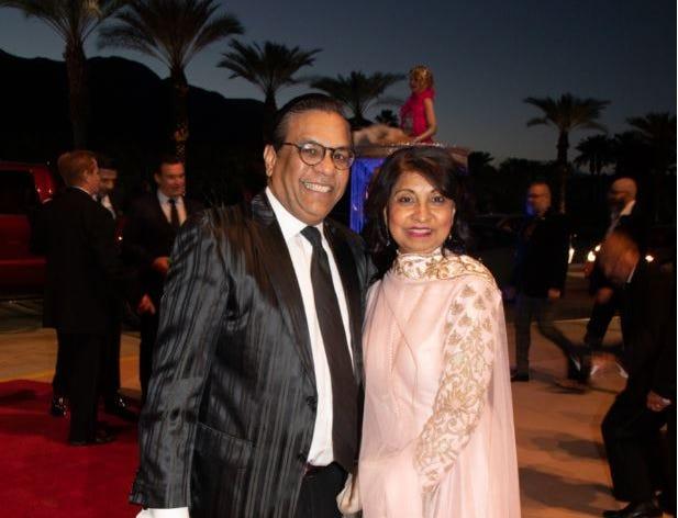 25th Anniversary sponsors Raju and Jaishri Mehta of El Paseo Jewelers.