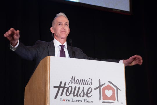 U.S. Representative Trey Gowdy speaks to the sold-out crowd at HEARTbeat of Love luncheon benefiting Mama's House.