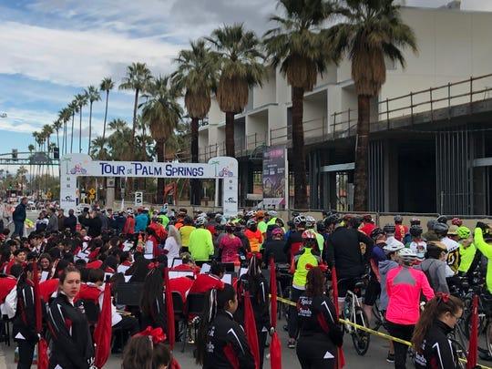 The Tour de Palm Springs starting line.