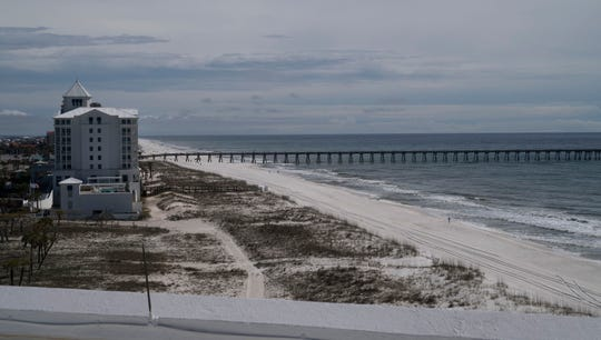 The Gulf of Mexico is seen from a suite at the Holiday Inn Express on Pensacola Beach in February.