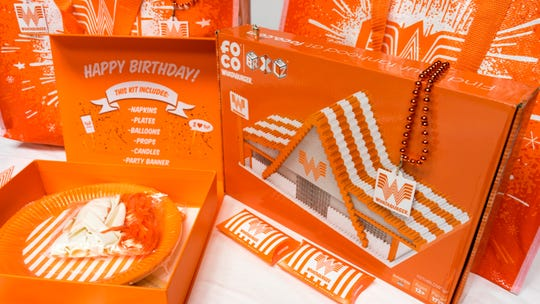 Whataburger is soon rolling out new retail items like a birthday party kit, a 1,737-piece BRXLZ brick set, a charm that resembles the famous Whataburger cup and more.